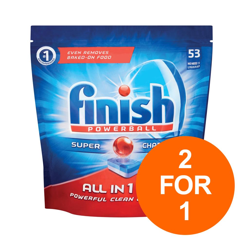 BOGOF Finish Allin1 Powerball Dishwasher Tablets PK53