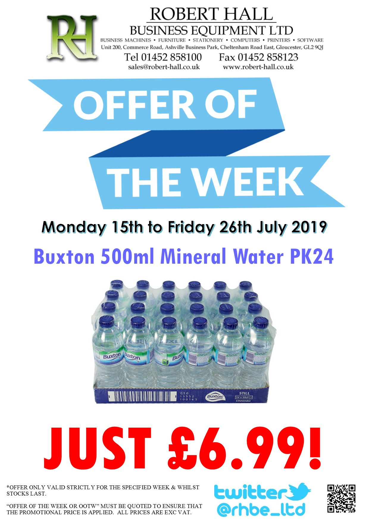 Offer Of The Week: Buxton 500ml Mineral Water PK24