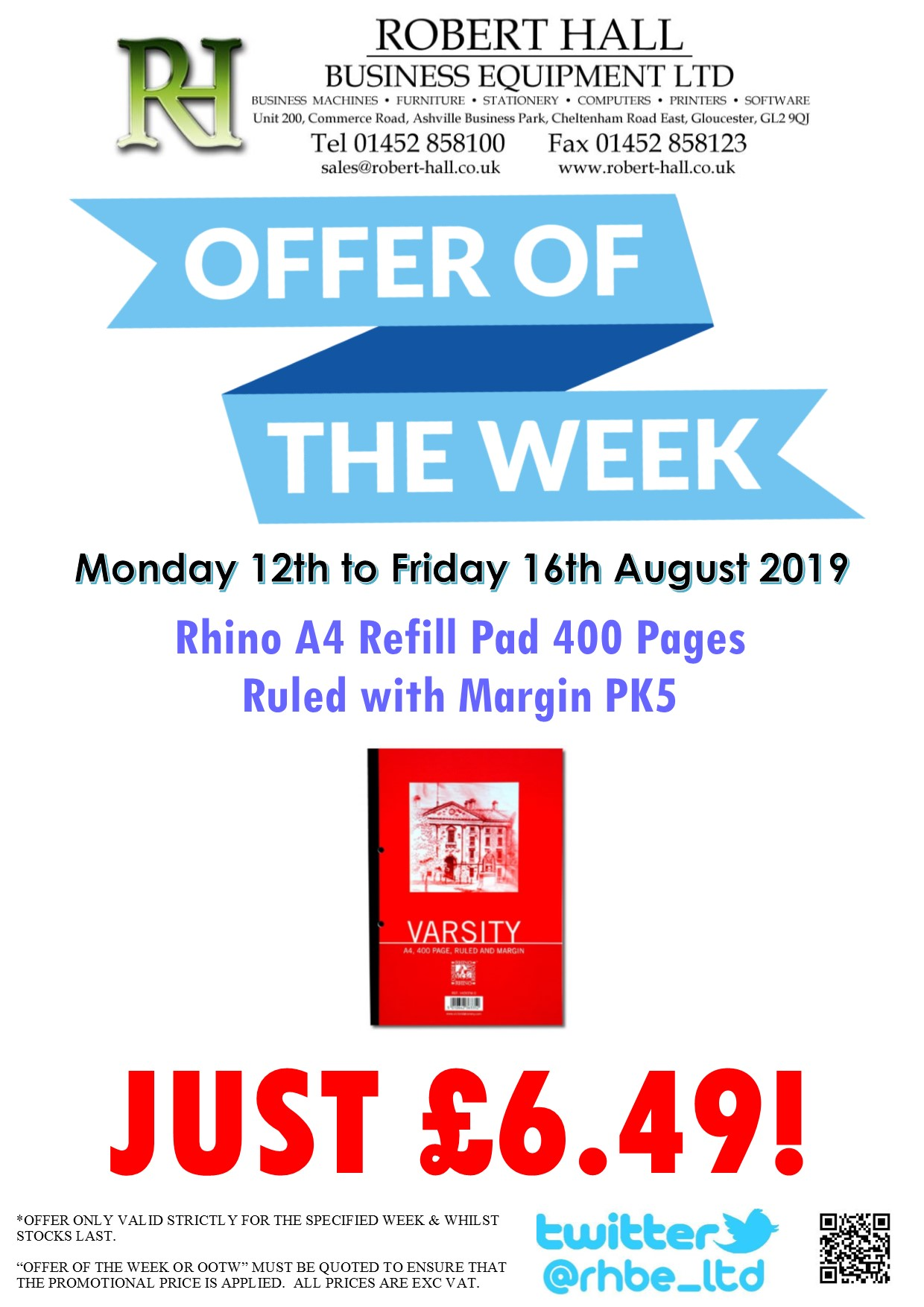 Offer Of The Week: Rhino A4 Ruled Refill Pad PK5