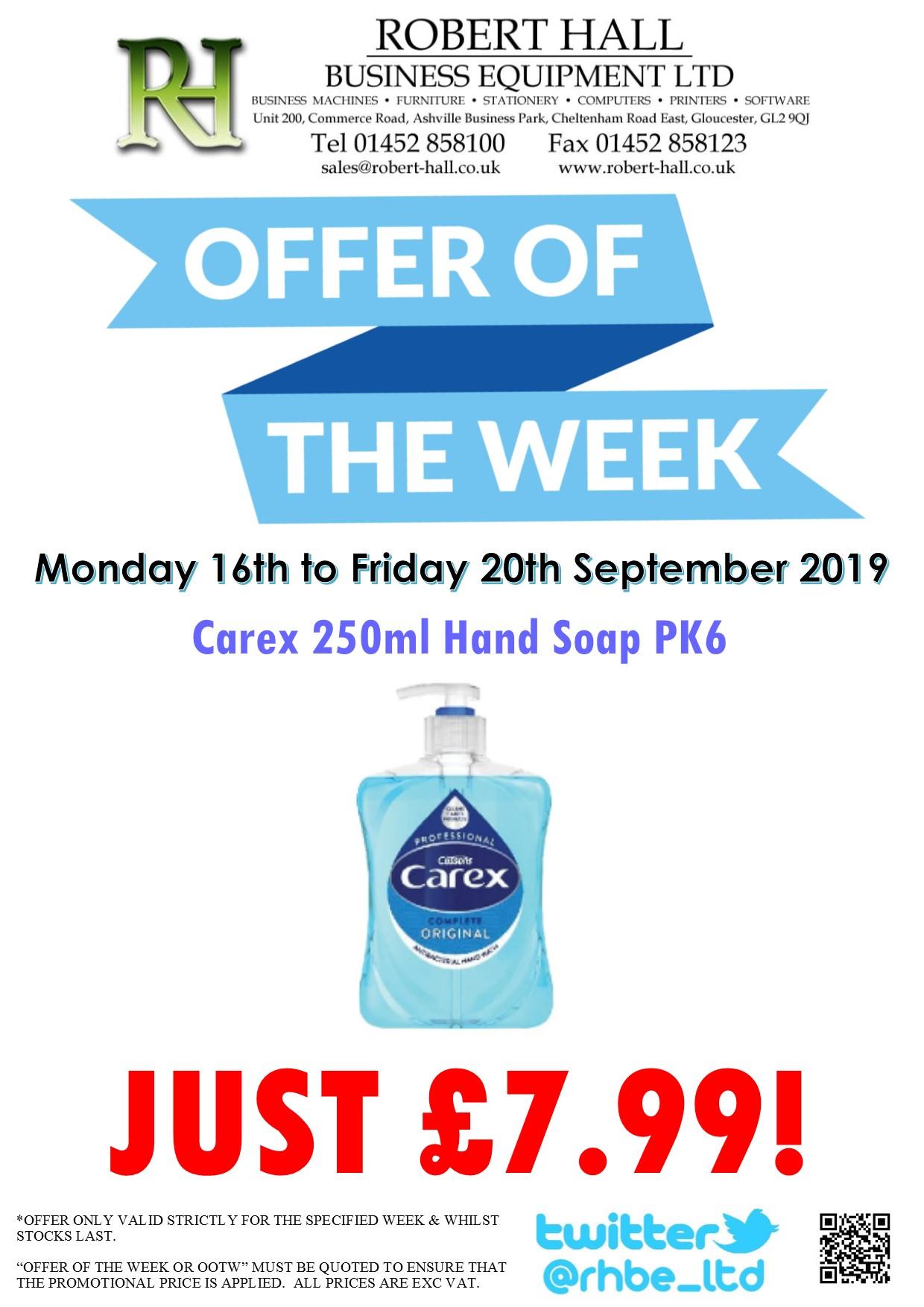 Offer Of The Week: Carex 250ml Original Hand Soap PK6