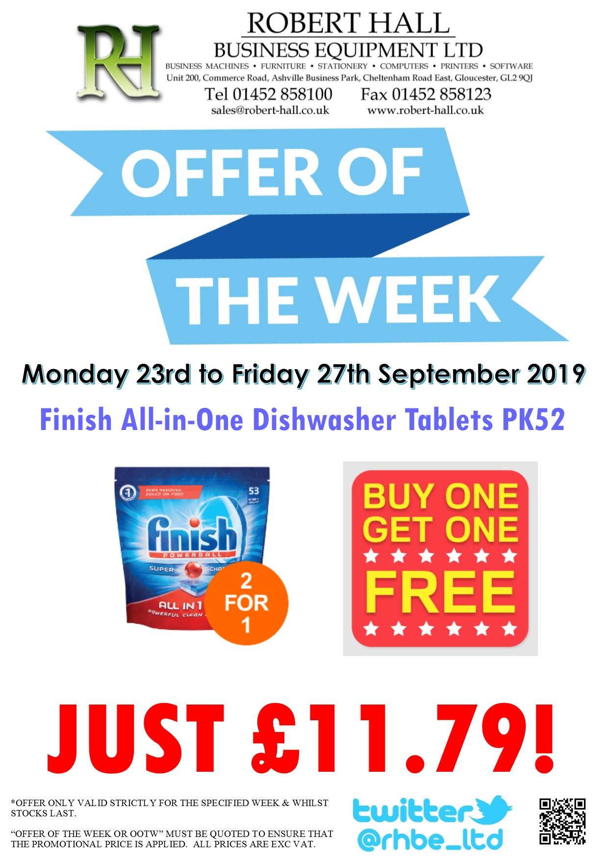 Offer Of The Week: Finish Dishwasher Tabs PK52 BOGOF
