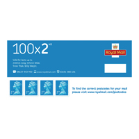 Royal Mail Second Class Stamps Bulk Pack 3 Working