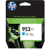 HP 953XL (Yield 1,600 Pages) High Yield Cyan Original Ink