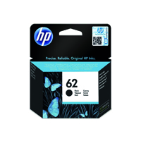 HP 62 (Yield 200 Pages) Black Original Ink Cartridge for
