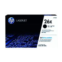 HP 26X (Yield: 9,000 Pages) High Yield Black Toner