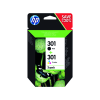 HP 301 (Yield: 190 Black/165 Colour Pages)