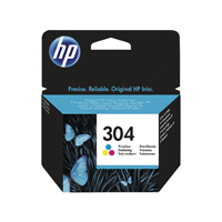 HP 304 (Yield: 100 Pages) Cyan/Magenta/Yellow Ink