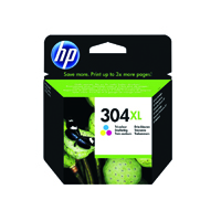 HP 304XL (Yield 300 Pages) Tri-color Original Ink