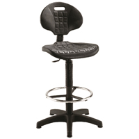 FF Jemini Draughtsman Chair Black