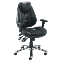 FF Avior Leather Look Operator Chair Bla
