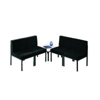FF Jemini Reception Chair Charcoal