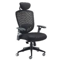 FF Arista Mesh Hb Task Chair H/Rest Blk