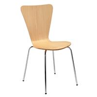 FF Arista Picasso Wood Chair Bch/Sil Pk4