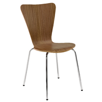 Arista Wooden Bistro Chair Wal/Chrm Pk4