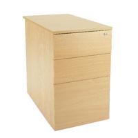 Jemini Intro Desk High Pedestal D800 Oak