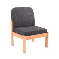 FF Arista Reception Seat Bch Veneer Char