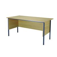 FF Jemini 1500mm 4 Legged Desk Oak