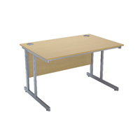 FF Jemini 1200mm Rect Cant Desk Oak