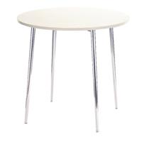 FF Arista Round Bistro Table Wh/Chrome