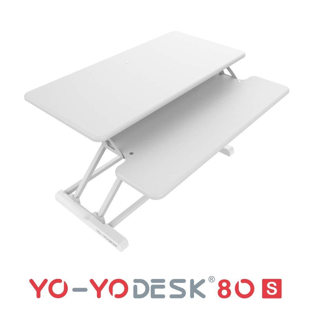 YO-YO Desk 80-S White 80x40x10-50cm (WxDxH)