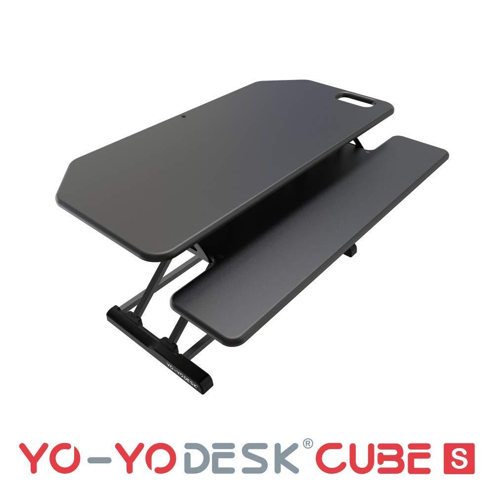 YO-YO Desk Cube-S Black 95x45x10-50cm (WxDxH)