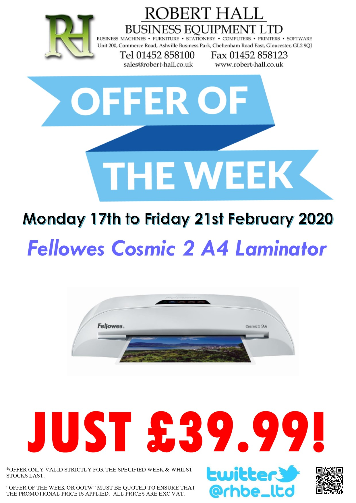 Offer Of The Week: Fellowes Cosmic 2 A4 Laminator