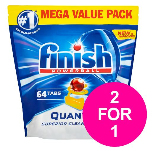 Finish Quantum Dishwasher Tablets (Lemon) Pack of 64