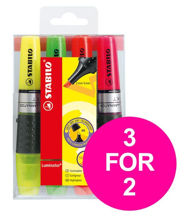 STABILO LUMINATOR (2 - 5mm) Chisel Tip Highlighter