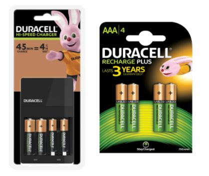 Duracell Hi-Speed Value Charger [Free AAA Batteries