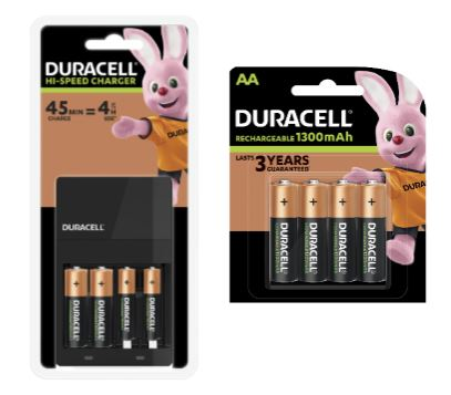 Duracell Hi-Speed Value Charger [Free AA Batteries