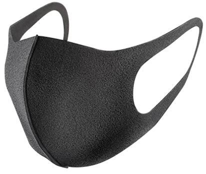 Reusable Polyurethane Face Mask Black SP