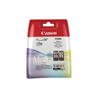 Canon PG-510/CL-511 (Yield: 220 Black/244 Colour Pages)