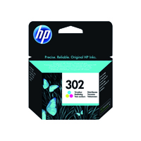 HP 302 (Yield 165 Pages) Tri-color Original Ink