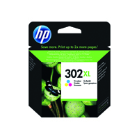 HP 302XL (Yield 330 Pages) High Yield Tri-color