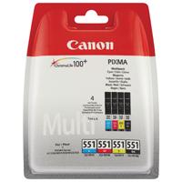 Canon CLI-551 (376 Black/121 Cyan/132 Magenta/130 Yellow