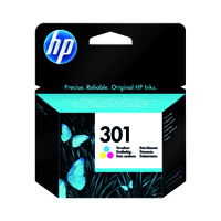 HP 301 (Yield 165 Pages) Tri-Colour Ink Cartridge