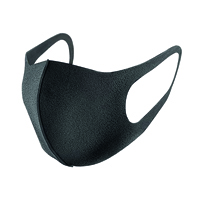 Reusable Polyurethane Face Mask Black SP